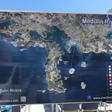 Medulin Riviera map