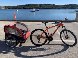 Rent a bike with trailer